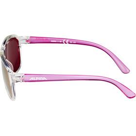 Alpina Yalla Gafas ciclismo Niños, clear-pink